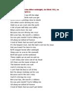 Letra de la canción After midnight.docx