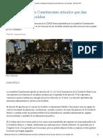 Aprueba Asamblea Constituyente Artículos Que Dan Autonomía a Las Alcaldías - Noticias MVS
