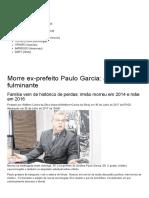 Morre Ex-prefeito Paulo Garcia_ Ataque Fulminante - Diário Da Manhã