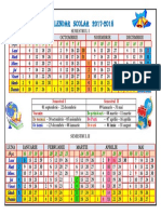 Calendar Scolar 20172018 Rm