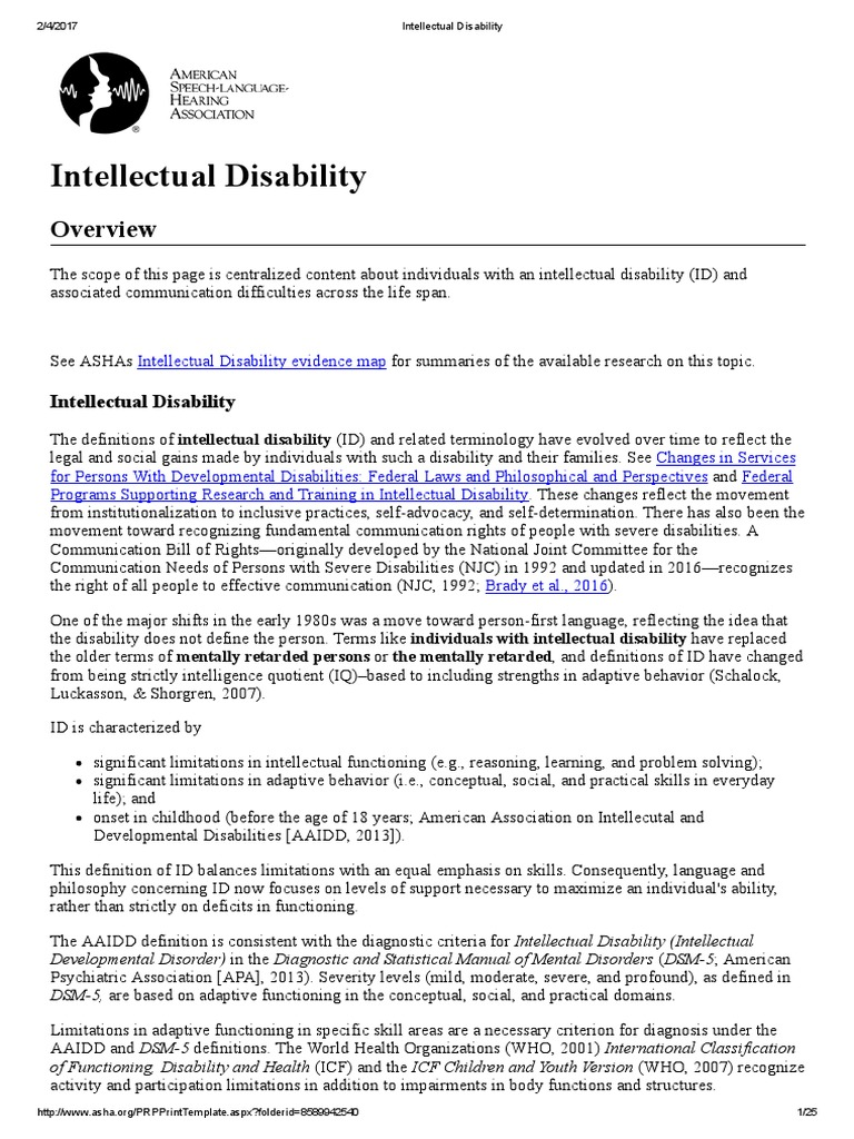 intellectual disability | intellectual disability | autism spectrum