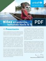 Ninez Amazonica Remando Hacia La Igualdad UNICEF Peru
