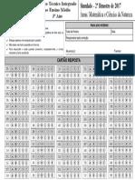 Cartao-Resposta-3-Ano-Integrado Matemática e Ciências Da Natureza