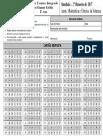 Cartao-Resposta-2-Ano-Integrado Matemática e Ciências Da Natureza