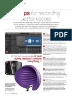 Enregistrement Vocal - Conseils