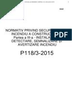 264349332 P 118-3-2015 Normativ Instalatii Detectare Semnalizare Si Alarmare in Caz de Incendiu