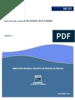 A) MC-01 V11 Manual Del Sistema de Gestión de La Calidad