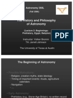 The History and Philosophy of Astronomy Lecture 2