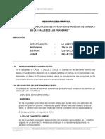 Perfil Rehabilitacion de Pistas y Veredas