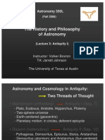 The History and Philosophy of Astronomy Lecture 3