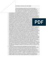 Desarrollo Sostenible en Bolivia Informe