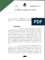 La Corte Suprema resolvió tomar juramento al senador Juan Mario Pais como integrante del Consejo de la Magistratura