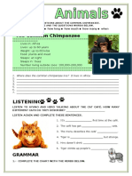 Animals Simple Present Grammar Guides Picture Description Exercises Tests 74172