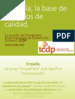 Empatía e ICDP