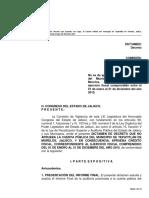 Tepatitlán de Morelos 2015 informe con cargo Dictamen del Congreso de Jalisco