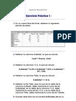 Operación Microsoft Excel