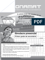 1S Simulacro Presencial-II 17conamat
