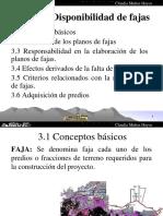 Tema 3. Disponibilidad de Fajas