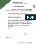 Carta de Compromiso Investigador