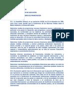 Recursos y Mecanismos de Financiación