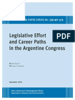 Legislative Career Efforts