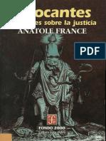 Chocantes Opiniones Sobre La Justicia-Anatole France
