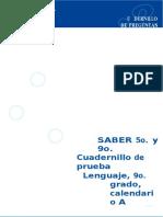 CUADERNILLO DE PRUEBA DE LENGUAJE