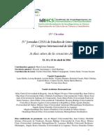 4_ Circular IVº Jornadas CINIG-FaHCE-2016