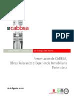 CABBSA - Cabbsa Presentación Parte I