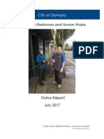 Portable Restrooms and Human Waste Status Report