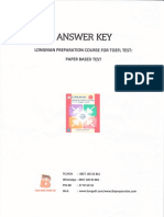 Answer Key Longman Preparation  Course For TOEFL Test