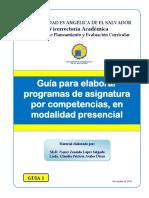 Indicaciones Para Elaborar Un Programa de Asignatura UEES