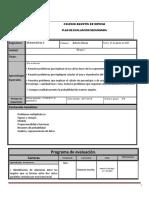 Plan de Evaluacion Matematicas 2B Bloque 1