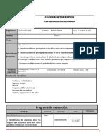 Plan de Evaluacion Matematicas 2A Bloque 1