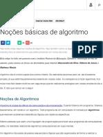 Noções básicas de algoritmo