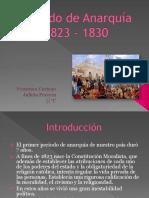 Periodo de Anarquia 1823-1830