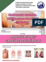 Embarazo Normal - Modificaciones Gravidicas Sistemicas