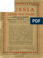1927 Russia After Ten Years