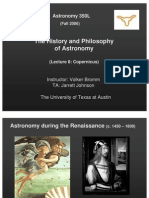 The History and Philosophy of Astronomy Lecture 8