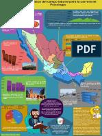 Infografía. Algunos datos del campo laboral para la carrera de Psicología