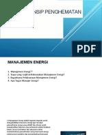 Prinsip Penghematan Energi -03 Tahun 2017