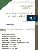 Apresentação_Licenciamento_Industriais- 2ª Aula. Evandro MGanem Jr. .(Primeira Parte) 19-11-17.Ppt