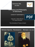 The History and Philosophy of Astronomy Lecture 9