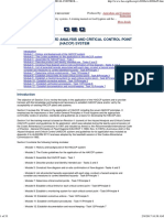 Section 3 - The Hazard Analysis and Critical Control Point (Haccp) System