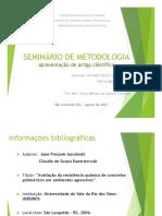 Apresentação de Artigo - Avaliação Da Resistência Química de Concretos Poliméricos Em Ambientes Agressivos