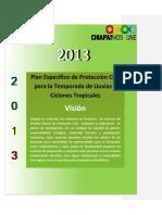 Chiapas Plan Especifico Para La Temporada de Lluvias y Ciclones Tropicales 2013
