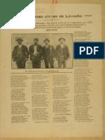 """""""El horroroso crimen de Limache"""" Pliego de poesía popular impresa 1925"""