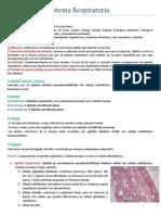 Histología de Sistema Respiratorio