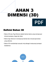 Bahan 3 Dimensi (3d)