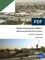 Planta de Aireación SEPA 7  (Sidestream Elevated Pool Aeration)  Partido de Avellaneda